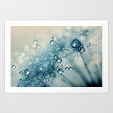 Creamy Blue Dandy Drops Art Print