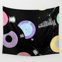 records Wall Tapestries featuring Records by Whitney Retter