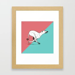 Run Greyhound! Framed Art Print