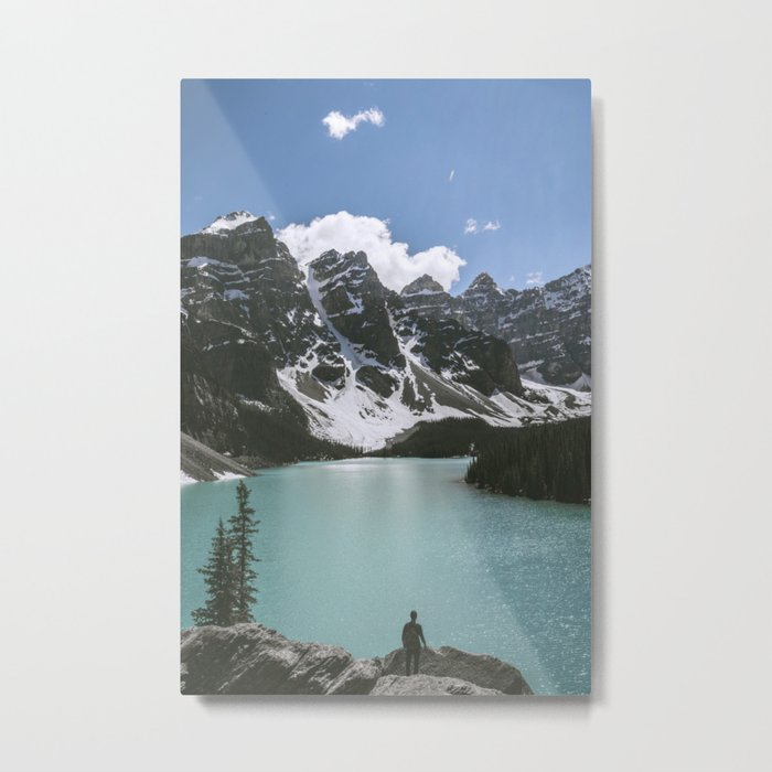 Man and Mountain Metal Print