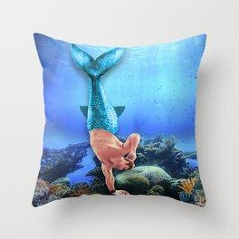 Merman Derek Throw Pillow