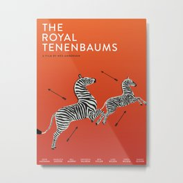 Margot's Wallpaper / The Royal Tenenbaums / Wes Anderson Metal Print