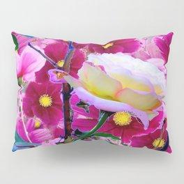 YELLOW ROSE GARDEN BEAUTY & PINK COSMOS Pillow Sham