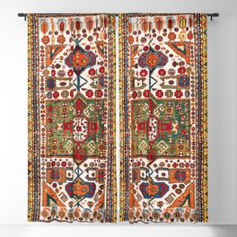 Kazak Antique Southwest Caucasus Rug Print Blackout Curtain