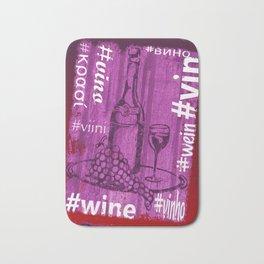 Hashtag Wine Bath Mat