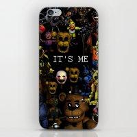 fnaf iPhone & iPod Skins featuring FNAF Cluster Design by artistathenawhite