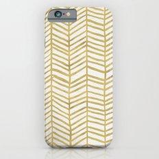 Gold Herringbone iPhone 6 Slim Case
