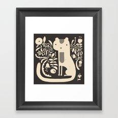 FLAMBOYANT WHISKERS Framed Art Print