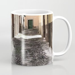 bicycle at the house door - ready to go Coffee Mug