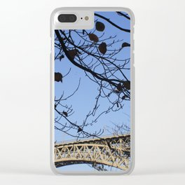 The tree and the bridge Clear iPhone Case