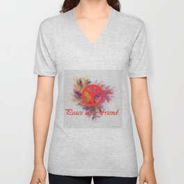 peace my friend Unisex V-Neck