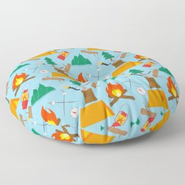 Let's Explore The Great Outdoors - Light Blue Floor Pillow