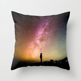 Galaxy Explorer Throw Pillow