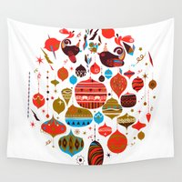 xmas Wall Tapestries featuring xmas by echo3005