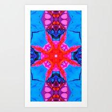 Liquid Blue Pink Fractal Art Print