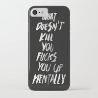 onesie iPhone & iPod Cases featuring Mentally, alternative by WRDBNR