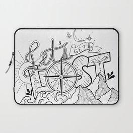 Let's Get Lost Laptop Sleeve