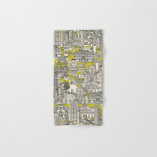 Hong Kong toile de jouy chartreuse Hand & Bath Towel