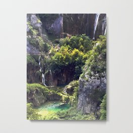 Waterfalls in Croatia Metal Print