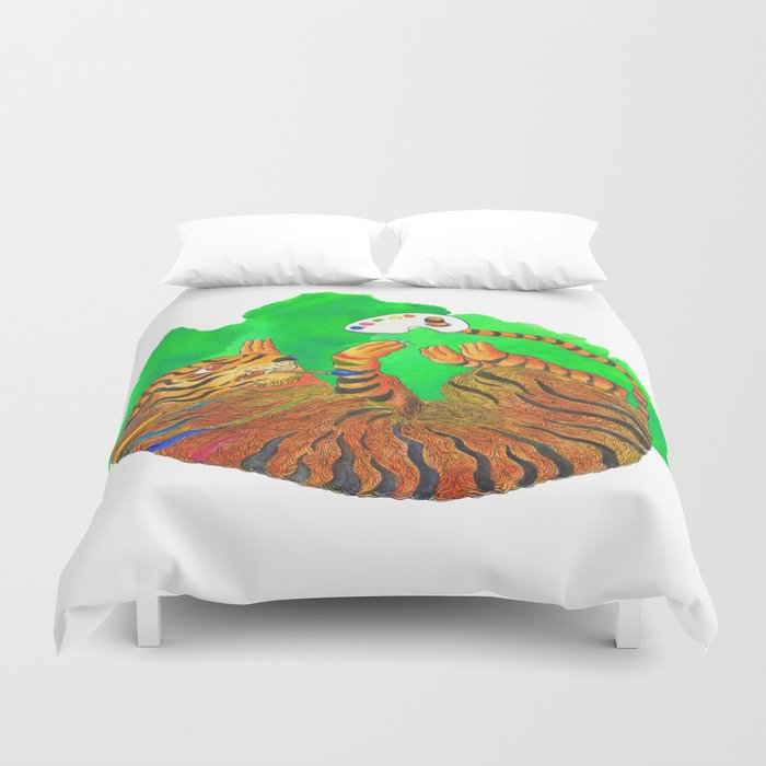 Artist Tiger Duvet Cover