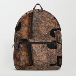 Old and rusty cogwheels Backpack