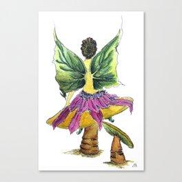 Tilting Mushrooms Fairy Canvas Print