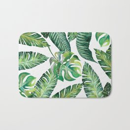Jungle Leaves, Banana, Monstera #society6 Bath Mat
