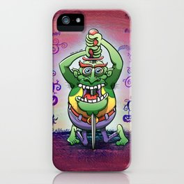 The Awkwardness of the Sword Swallower iPhone Case