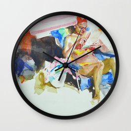 Sea sketches 2 Wall Clock