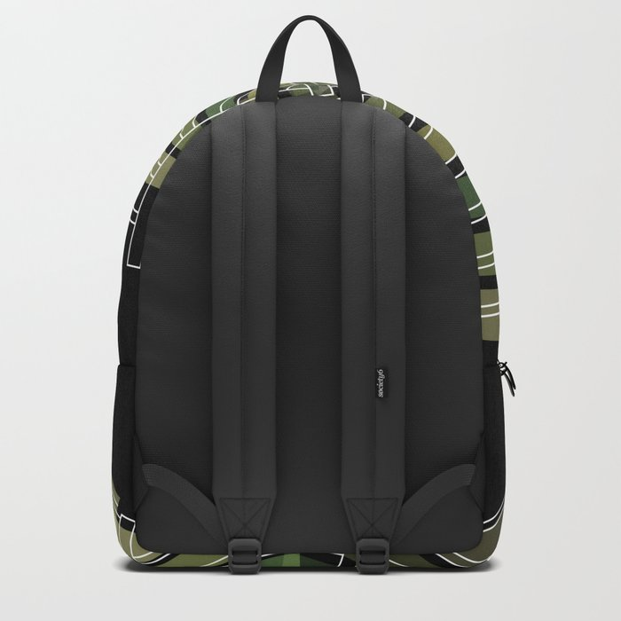 Exploded view camouflage Backpack