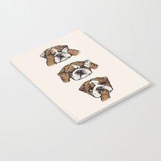 No Evil English Bulldog Notebook