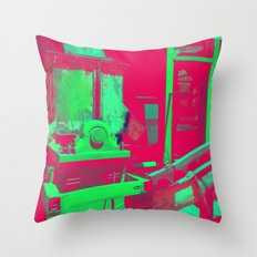 Factory Red Throw Pillow