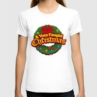 fangirl T-shirts featuring A Very Fangirl Christmas by Leigh Lahav