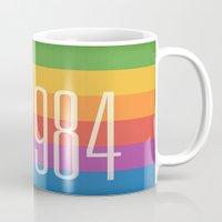 1984 Mugs featuring 1984 (h) by Dan Rubin