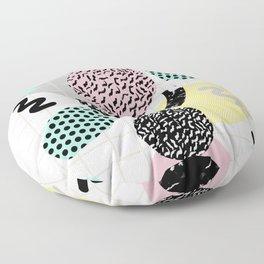 Righteous - abstract minimal throwback retro memphis style art decor wacka design Floor Pillow