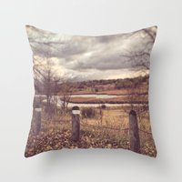 river Throw Pillows featuring River by Anthony Londer