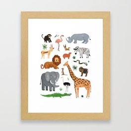 Safari Animals Framed Art Print