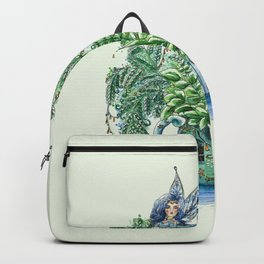 Blue Fairy On a Teapot Backpack