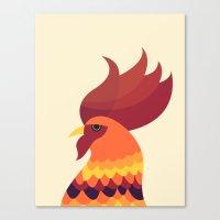 cock Canvas Prints featuring Cock by Volkan Dalyan