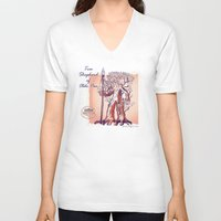 patriots V-neck T-shirts featuring Pae Tree Ent by GrimmLyon
