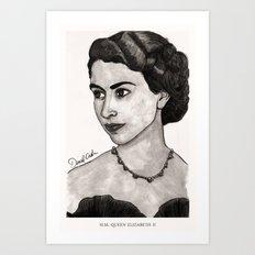H.M. Queen Elizabeth II Art Print