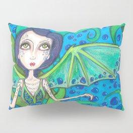 Blue Hair mermaid Pillow Sham