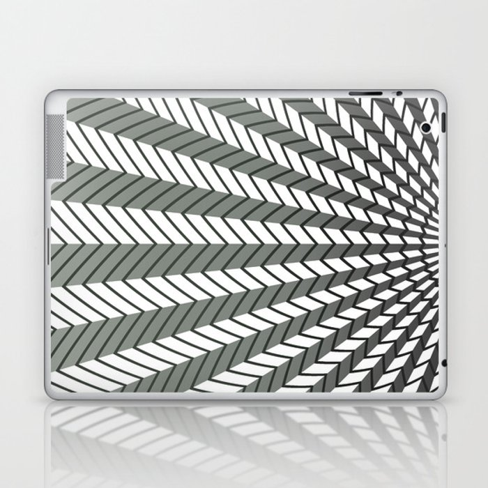 Low Peaks - Black & White Laptop & iPad Skin