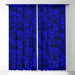 A202 Rich Blue and Black Abstract Design Blackout Curtain