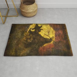 Witch on Moon Rug