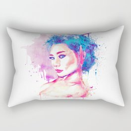 Geisha Girl Rectangular Pillow