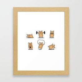 FITNESS CAT Framed Art Print