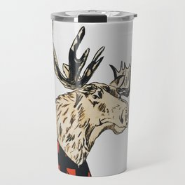 Flannel Moose Travel Mug