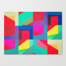 Colorful Truth. Red Canvas Print