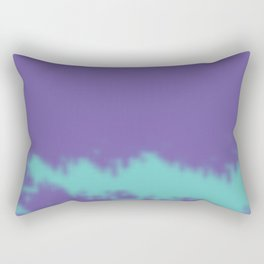 Turquoise Clouds in a Purple Sky Rectangular Pillow